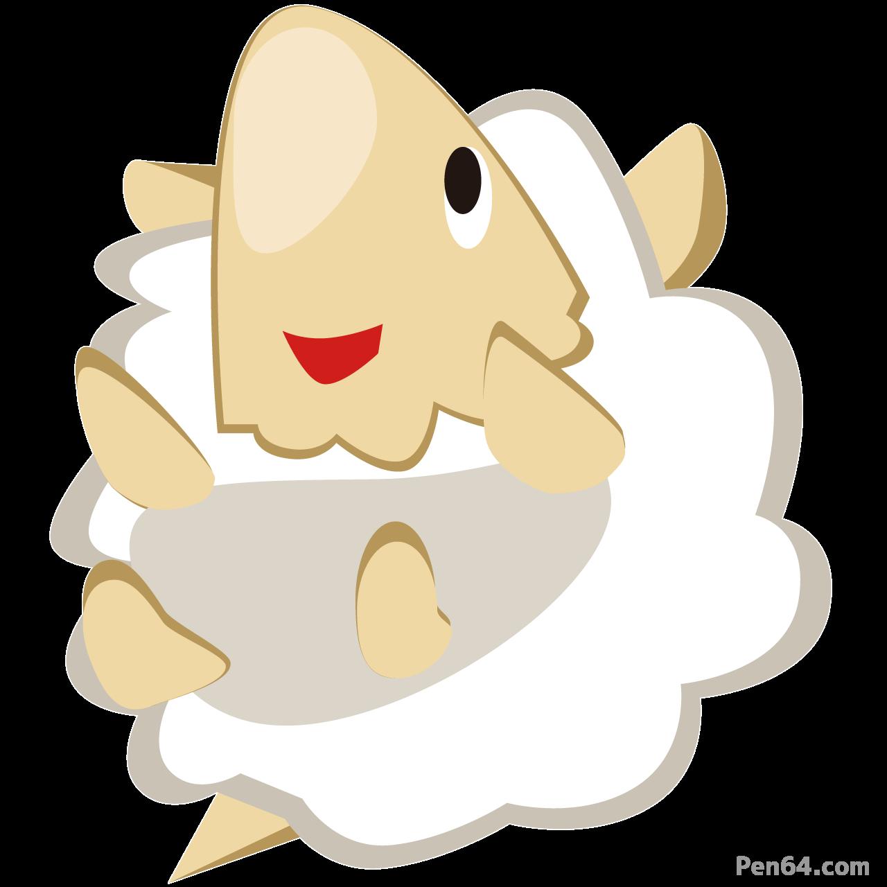 メイ ふわふわ羊キャラクターsheep
